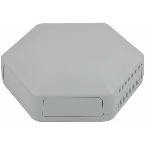 CamdenBoss CBHEX1-51-GY Hex-Box IoT Enclosure 5 Solid Panels and 1 Vented Grey