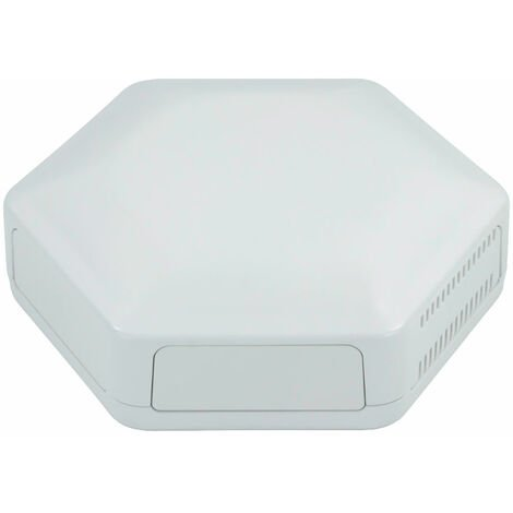 CamdenBoss CBHEX1-51-WH Hex-Box IoT Enclosure 5 Solid Panels and 1 Vented White
