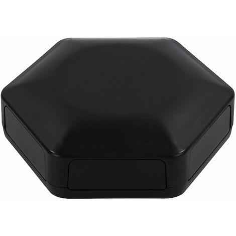 CamdenBoss CBHEX1-60-BK Hex-Box IoT Enclosure 6 Solid Panels Black