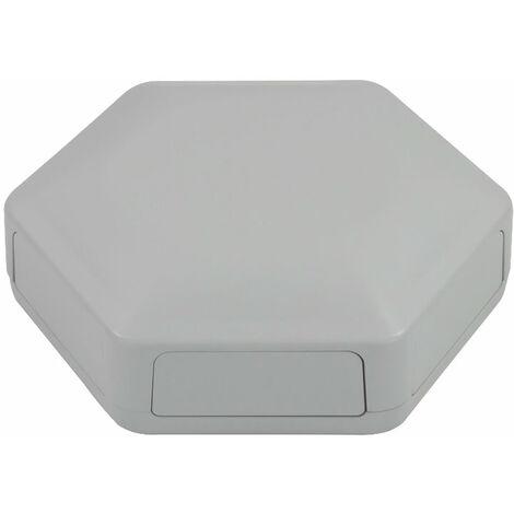 CamdenBoss CBHEX1-60-GY Hex-Box IoT Enclosure 6 Solid Panels Grey
