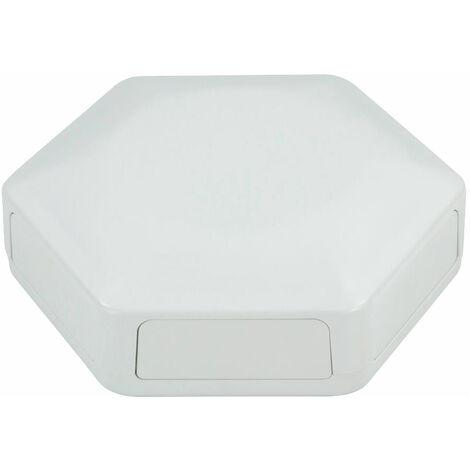 CamdenBoss CBHEX1-60-WH Hex-Box IoT Enclosure 6 Solid Panels White