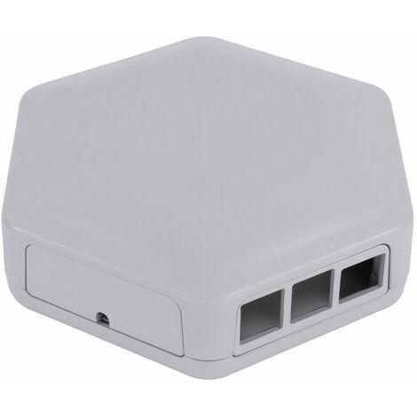 CamdenBoss CBHEX1-PI4-GY Hex-Box Pi Ready Enclosure, Grey