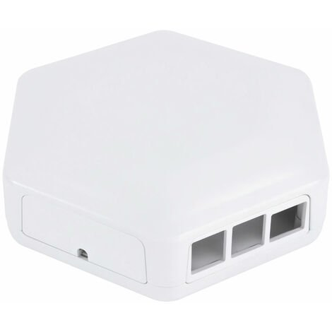CamdenBoss CBHEX1-PI4-WH Hex-Box Pi Ready Enclosure, White