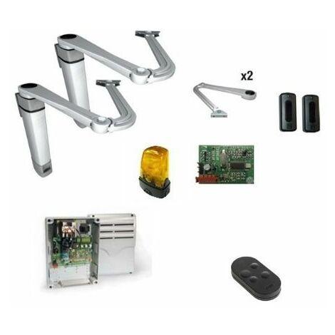 CAME 001U8212 Kit automatisme portail battant 1,8 m CAME STYLO-RME 24V bras articulé réversible U8212