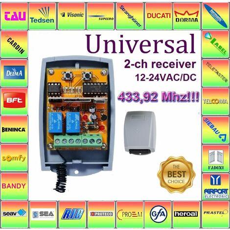 Tam handsender 24/V AC//DC Module r/écepteur radio CAME compatible dans le bo/îtier 12 No//Nc 433.92/Mhz rolling code//Fixed 2/canaux R/écepteur universel pour CAME TOP Twin