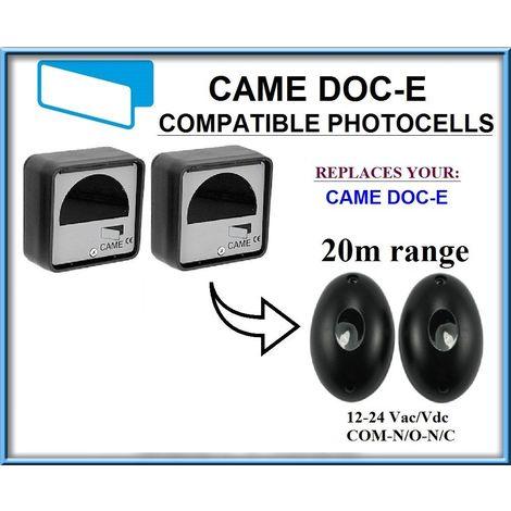 Came DOC-E compatible infrarouge photocellules, 12-24V, N.C-COM-N.O. Universel capteur de securite avec plage de fonctionnement 20m!!!