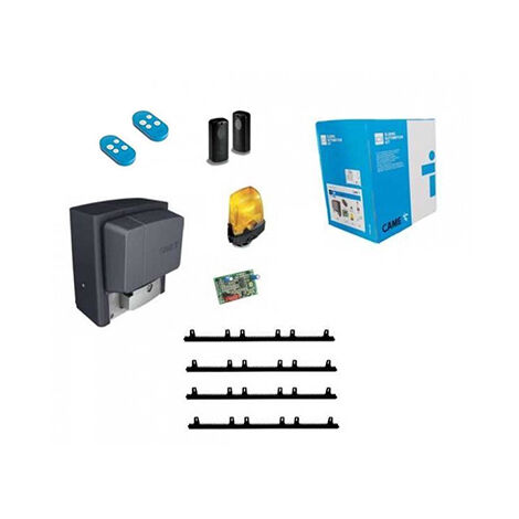 CAME Kit Automatisme de portail coulissant BX-708AGS + 4m cremaillere + 1 Top432EE