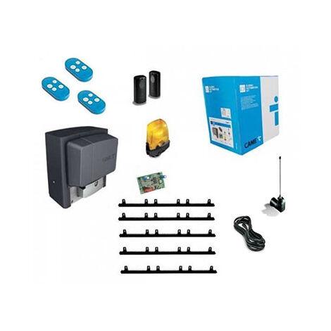 CAME Kit Automatisme de portail coulissant BX-708AGS + 4m cremaillere + 2 top432EE + Antenne Top433EN
