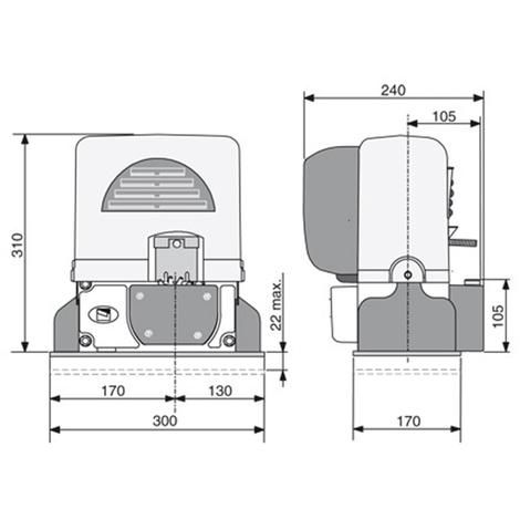 Came Kit Automatisme De Portail Coulissant Bx 74 78 4m Cremaillere