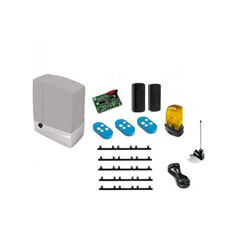 CAME Kit Automatisme de portail coulissant BXV400 + 5m cremaillere + 1 Top432EE