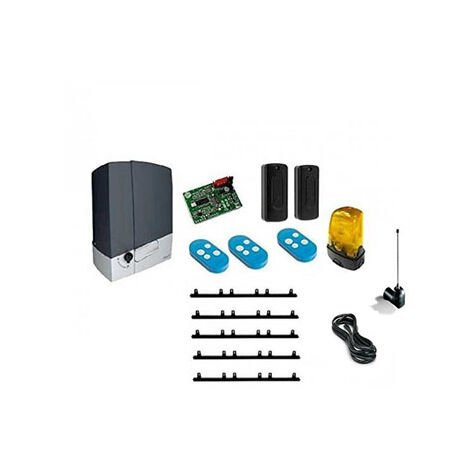 CAME Kit Automatisme de portail coulissant BXV6 + 5m cremaillere + 1 TopA433EN + 2 Top CONNECT 600KG 24V BXV600