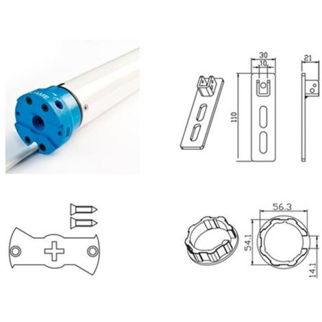 came tubular motor kit for mondrian 5 rolling shutters 230v uy0021 001uy0021