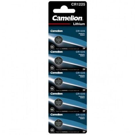 Camelion Pack de 5 piles Lithium CR1225 3V (13005225)