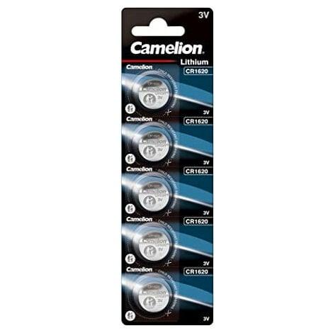 Camelion Pack de 5 piles Lithium CR1620 3V (13005620)