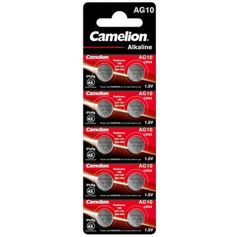 Camelion Piles alcalines boutons - AG 13 / LR44 - pack de 10