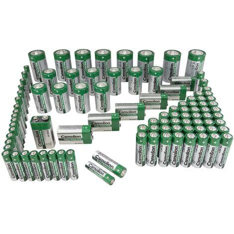 Camelion Piles zinc-carbone 98 pièces
