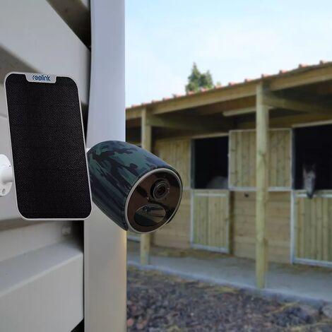 Caméra 4G 100% sans fil version FR + panneau solaire / extérieure IP65 / 1080P / Détecte, enregistre, notifie via App