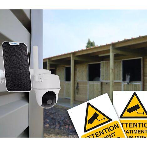 Caméra 4G protection chevaux / bétail rotative autonome solaire sans fil / IP64 / 1080P / Détecte, enregistre, notifie