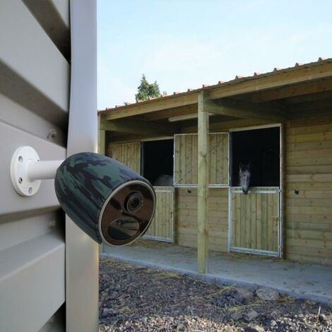 Caméra 4G protection chevaux / élevage 100% sans fil extérieure - modèle FR / 1080P / App / Détecte, enregistre, notifie