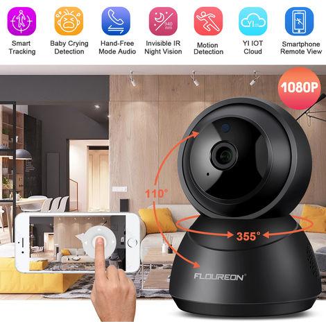 Caméra à la maison de nuage de FLOUREON YI IOT, vision nocturne de nuit de caméra de sécurité IP sans fil 1080P HD