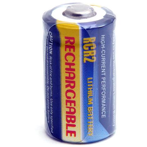 Camera battery R-CR2 rechargeable 3V 250mAh - CR-2 CR2 CR-2PA/2B PANASONIC CR