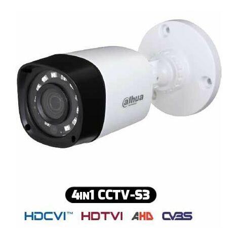 Caméra Bullet HDCVI Hybride 4IN1 720p 2.8MM 1Mpx IP67 DAHUA HAC-HFW1000RM-S3