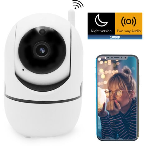 Camera Camera Chien Camera Pet 1080P Smart Wifi Pet Securite Avec Detection De Mouvement De Vision Nocturne A Deux Voies Audio