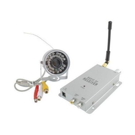 Caméra CCTV + Récepteur 30 argent Couleurs Sans Fil Couleur Sécurité