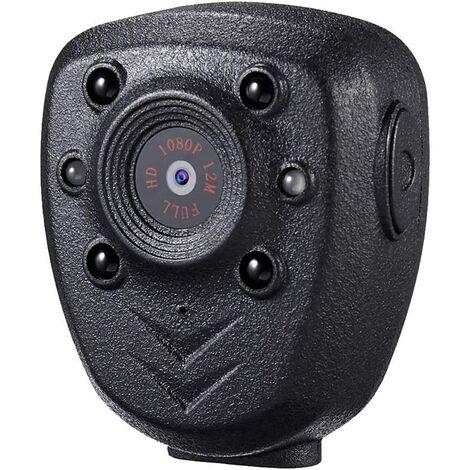 Caméra corporelle Portable, Mini enregistreur vidéo sans Fil 1080P avec Vision Nocturne, Petite caméra de Nounou secrète pour la Maison / Le Bureau (Carte intégrée de 32 Go)
