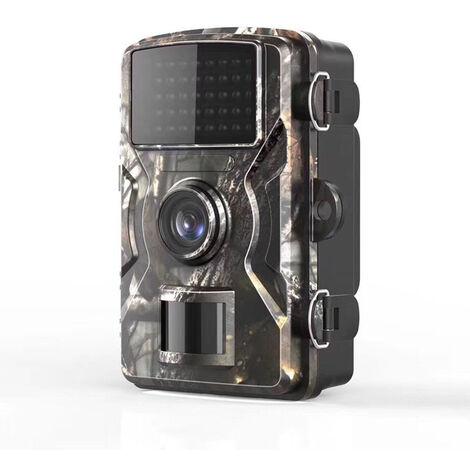 Caméra de Chasse 12MP 1080P IP66 Étanche, Caméra Surveillance avec LED Vision Nocturne Infrarouge Jusqu'à