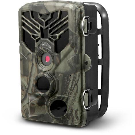 Camera de chasse 16MP 1080P Camera de chasse Camera de surveillance exterieure de la faune avec capteur PIR Vision nocturne infrarouge 0.3s Declencheur super rapide