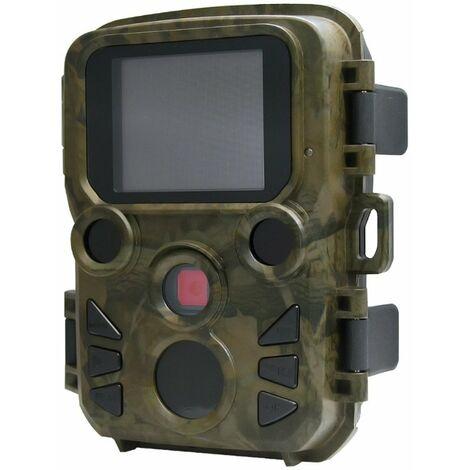 Caméra de chasse Bluetooth 4K avec caméra de jeu à vision nocturne à LED IR 70 ° détection de mouvement activée IP66 étanche