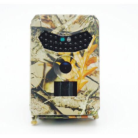 Caméra de Chasse Caméra de Surveillance Étanche 26 LEDs 12MP 1080P HD Grand Angle 120 °, Capteur de Mouvement Infrarouge