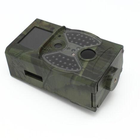 Caméra de jeu WLAN 12MP 1920P Caméra de jeu WiFi avec détecteur de mouvement vision nocturne, caméra animalière étanche IP66 grand angle 120 °, caméra de surveillance pour la chasse et la sécurité à domicile