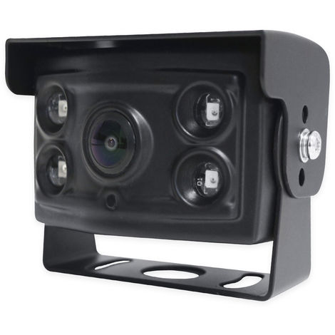 Caméra de recul ou de recul Yatek, avec pare-soleil et inclinaison, infrarouge invisible, degré angulaire 170 degrés