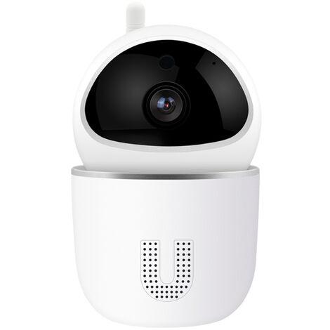 Camera De Securite Interieure Wi-Fi Hd 2Mp 1080P Avec Detection Du Son, Detection Et Suivi De Mouvement, Audio Bidirectionnel, Vision Nocturne, 360 Degres, Application Graffiti