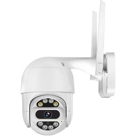 Camera de securitePTZ sans fil haute definition 1080P avec zoom electronique 4 fois. Vision nocturne infrarouge et vision nocturne couleur. Deux modes de vision nocturne. Exterieur etanche. Prise en charge de la surveillance a distance, detection de mouve