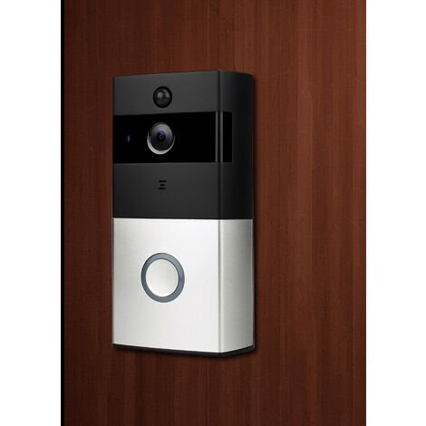 Caméra de sonnette vidéo étanche IP65 sans fil , conversation bidirectionnelle, détection de mouvement PIR, vision nocturne