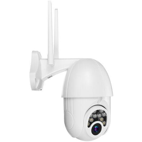 Caméra de Surveillance 2MP Extérieur Intérieur 5X Zoom PTZ Pan Tilt Sécurité Prise UE (pas de carte TF)