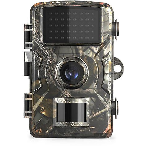 Camera de surveillance de chasse et de chasse a la faune 12MP 1080P Camera de securite activee par le mouvement IP66 Camera de surveillance de chasse a vision nocturne infrarouge exterieure etanche, modele: Camouflage