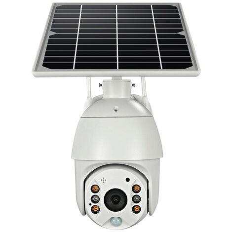 Caméra de surveillance extérieure, caméra zoom numérique PTZ 100% sans fil avec panneau solaire, caméra IP WiFi extérieure, détection PIR et radar, vision nocturne couleur, audio 2 voies, version européenne 4G (UBOX)
