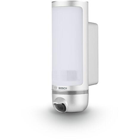 Caméra de surveillance extérieure jour & nuit Bosch Smart Home Eyes (Intelligente & pilotable par smartphone - lumière intégrée, HD, connectée wifi)