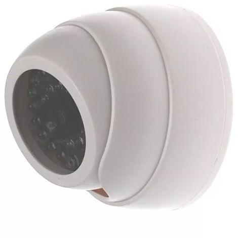 Caméra de surveillance factice (leurre) DC16 blanche (forme dôme)