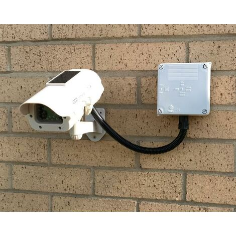 Caméra de surveillance factice (leurre) DC23 solaire avec boîtier de gestion