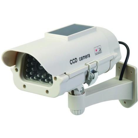 Caméra de surveillance factice solaire avec LED Solaire