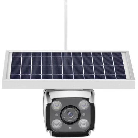 Caméra de surveillance solaire 4G, caméra sans fil basse consommation, caméra de surveillance à distance pour téléphone portable