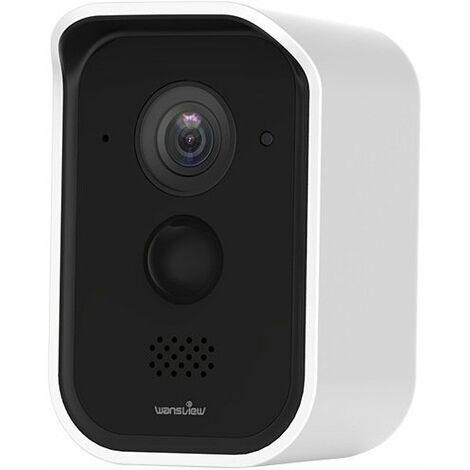 caméra de surveillance Wifi sans fil. Grand Angle 180° Spot intégré, vision nocturne colorée. Étanche.
