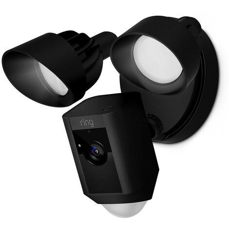 Caméra extérieure avec détecteur, projecteur et sirène - Floodlight Cam (Noir) - Ring - Noir