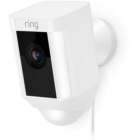Caméra extérieure WiFi avec spots LEDs - Spotlight Cam Filaire (Blanc) - Ring - Blanc