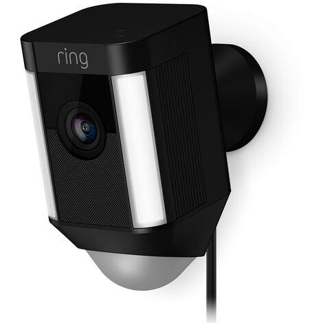 Caméra extérieure WiFi avec spots LEDs - Spotlight Cam Filaire (Noir) - Ring - Noir